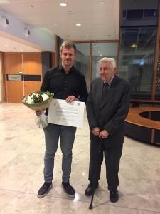 Foto Maarten prijsuitreiking